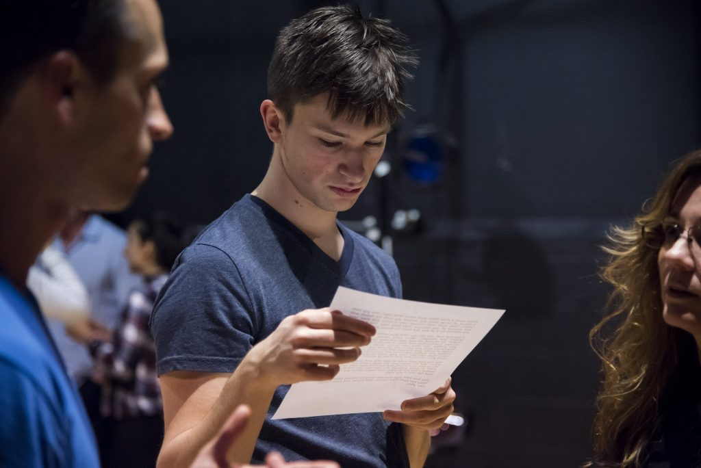 Student of the Actor's Lab in Portland Oregon Reviewing Script